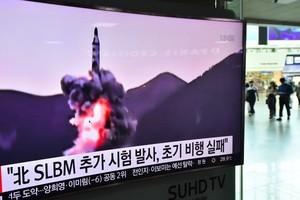 中日韓外長會晤之際 北韓發射潛射導彈