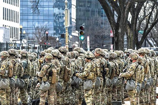 拜登就職典禮後 華府約二百國民兵確診