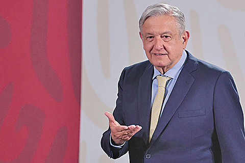 圖為墨西哥總統奧夫拉多爾資料照。(Getty Images)