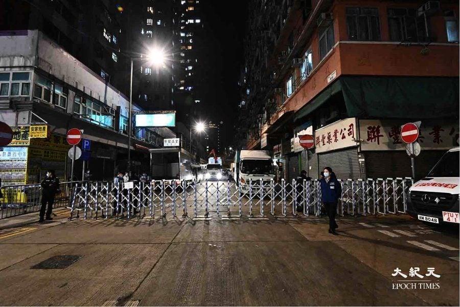 【圖片新聞】油蔴地今晚封區 市民完成檢測方可離開
