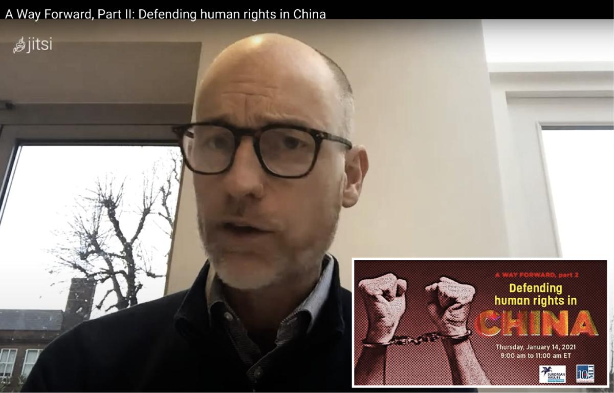 英國國會議員、影子亞洲事務大臣金諾克(Stephen Kinnock)近日在「捍衛中國人權」在線研討會上表示,中國人權問題超越政治界限,英國應當與犯有群體滅絕的政權劃清界限,不允許貿易往來;他還提出追責中共的建議,即構建獨立的供應鏈和國家間聯盟。(視頻截圖)