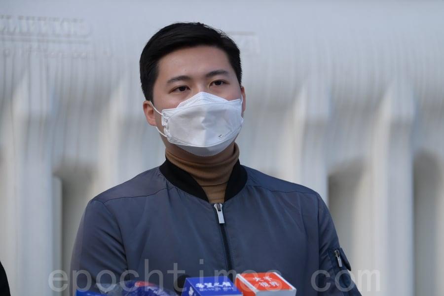 公民黨油尖旺區議會副主席余德寶。(郭威利/大紀元)