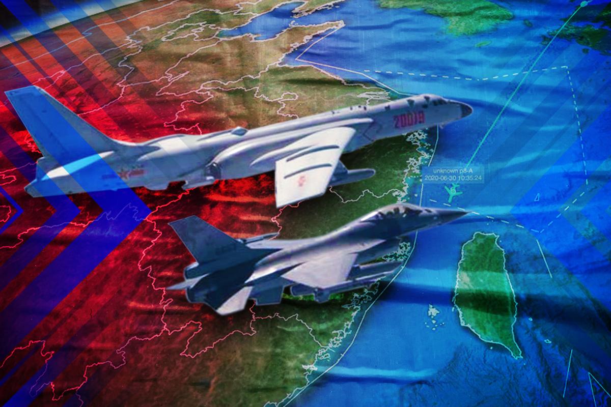【軍事熱點】台海局勢緊張,美航母戰鬥群進入南海。(大紀元製圖)