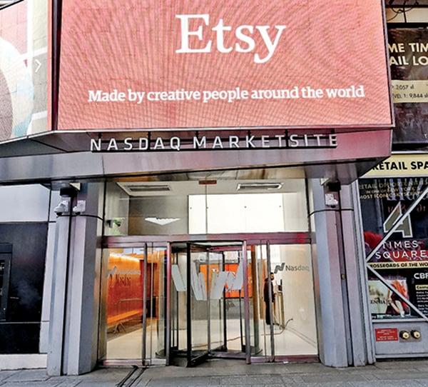 Etsy於2015年在納斯達克市場上市。(Getty Images)
