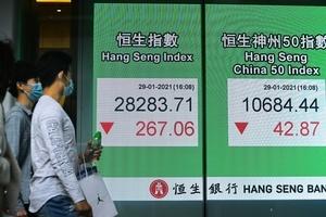 恒指倒跌267點   亞太區股市全面調整1-3%