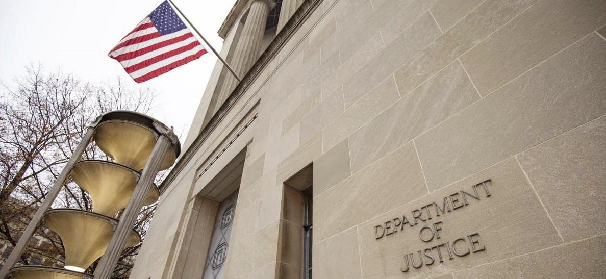 位於華盛頓特區的美國司法部(Department of Justice )。(Getty Images)