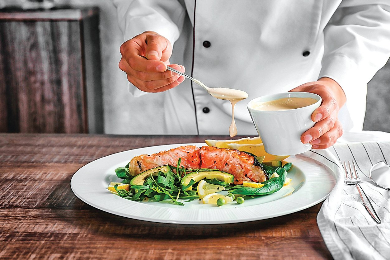 在法國料理中,佐醬對菜餚來說非常重要。