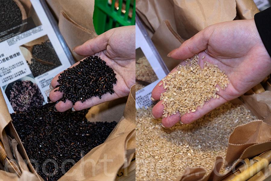 獨家韓國有機黑米、糙米等。(陳仲明/大紀元)