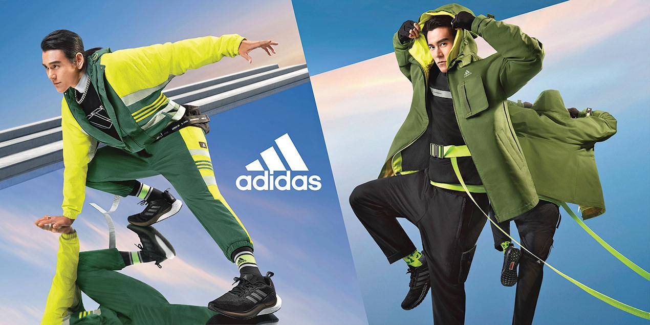 adidas全新Future of Sportswear運動風格系列服飾,邀請代言人彭于晏率性演繹。