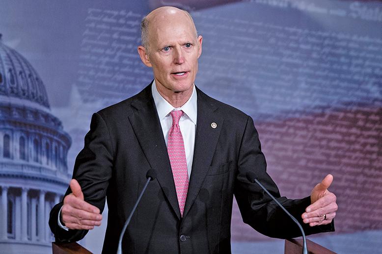 美國國會參議員斯科特(Rick Scott)等人提出決議案,敦促國際奧委會將2022年冬奧會遷出中國。(AFP)