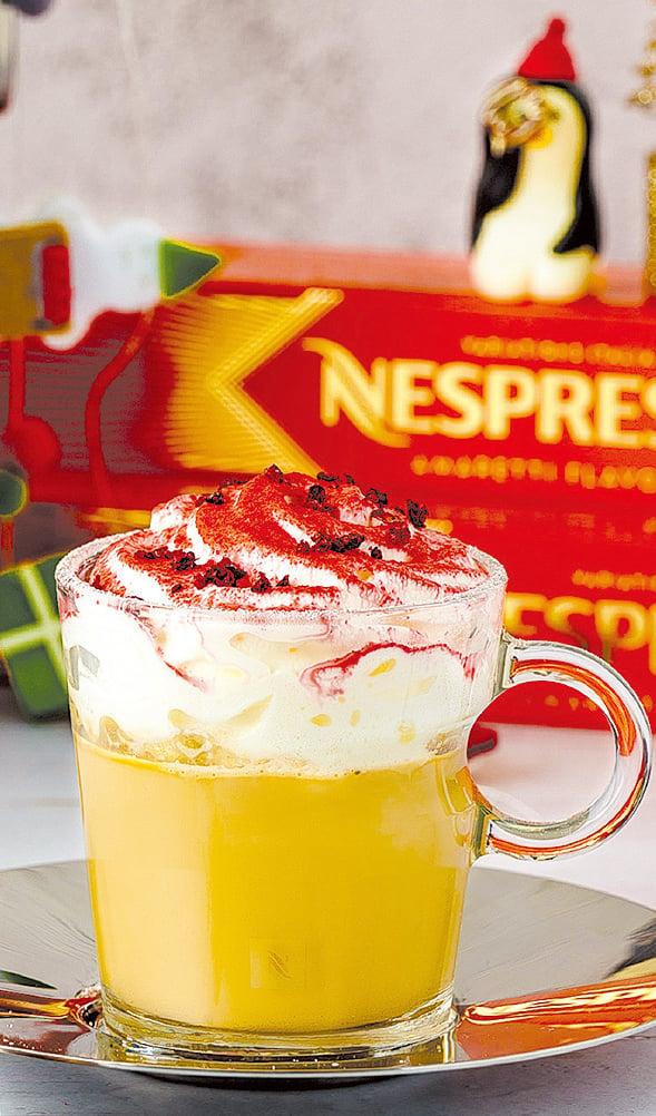 使用意式杏仁酥餅風味咖啡打造,口感濃郁滑順。