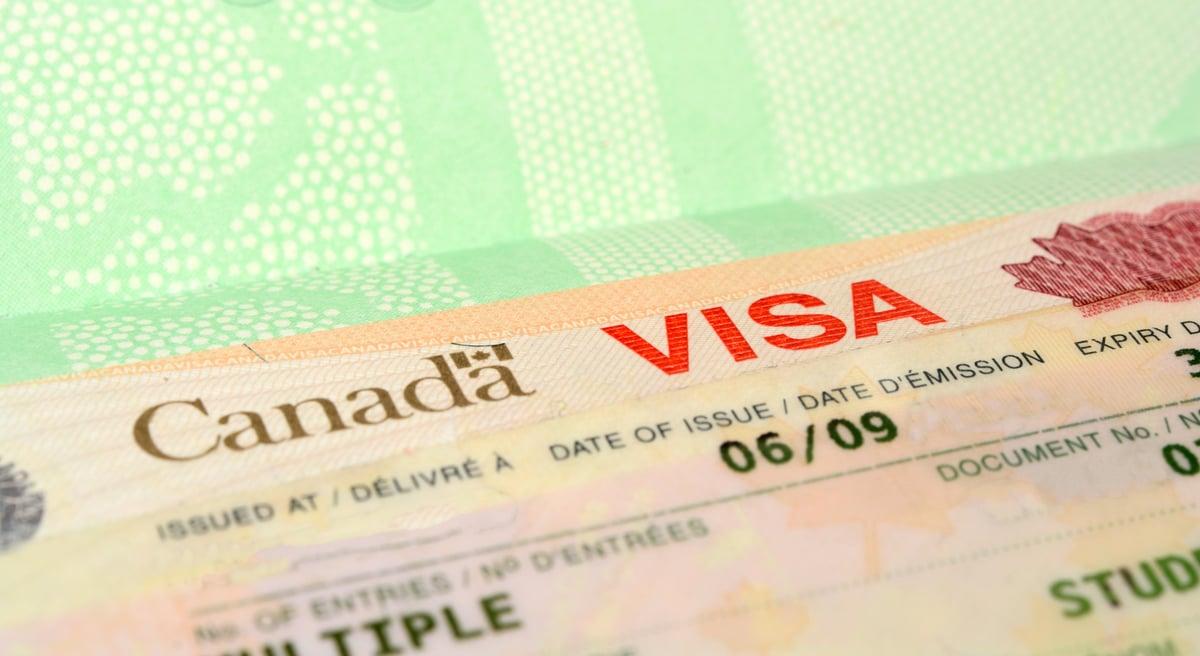 加拿大政府將從2月8日起開放港人申請效期三年的工作簽證。圖為加拿大簽證。(Shuttlecock)