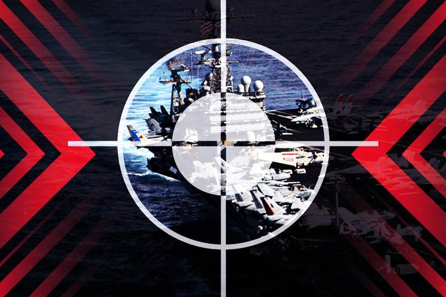 美航母遭模擬攻擊 共軍練英語喊「投降吧」