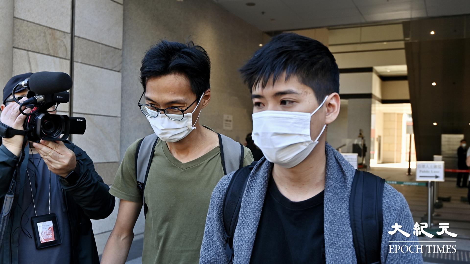 朱凱迪(左)和岑敖暉(右)。(宋碧龍/大紀元)