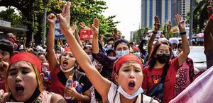 緬甸政變引發大規模抗議 軍方斷網封消息
