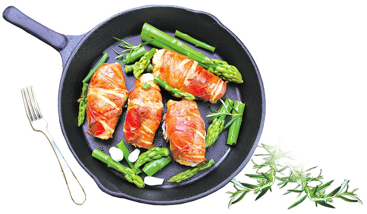 巴馬火腿裹雞肉捲可作為飽足的晚餐。