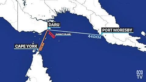 達魯島距澳洲外島薩拜島僅50公里,離澳洲本土不到200 公里。(影片截圖)