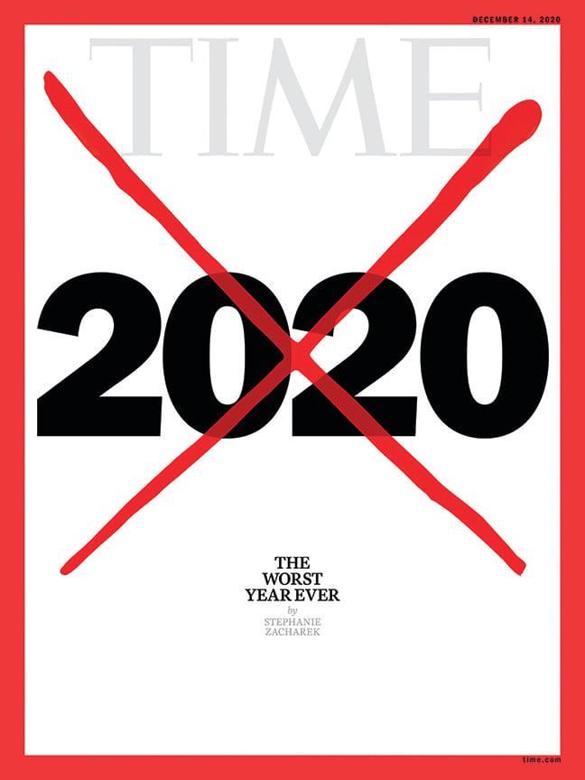 近日,《時代》雜誌大膽揭露,去年美國大選幕後的多方勾結等祕密。圖為《時代》雜誌2020年12月14日一期的封面,表示2020年是最糟糕的一年。(wikipedia)