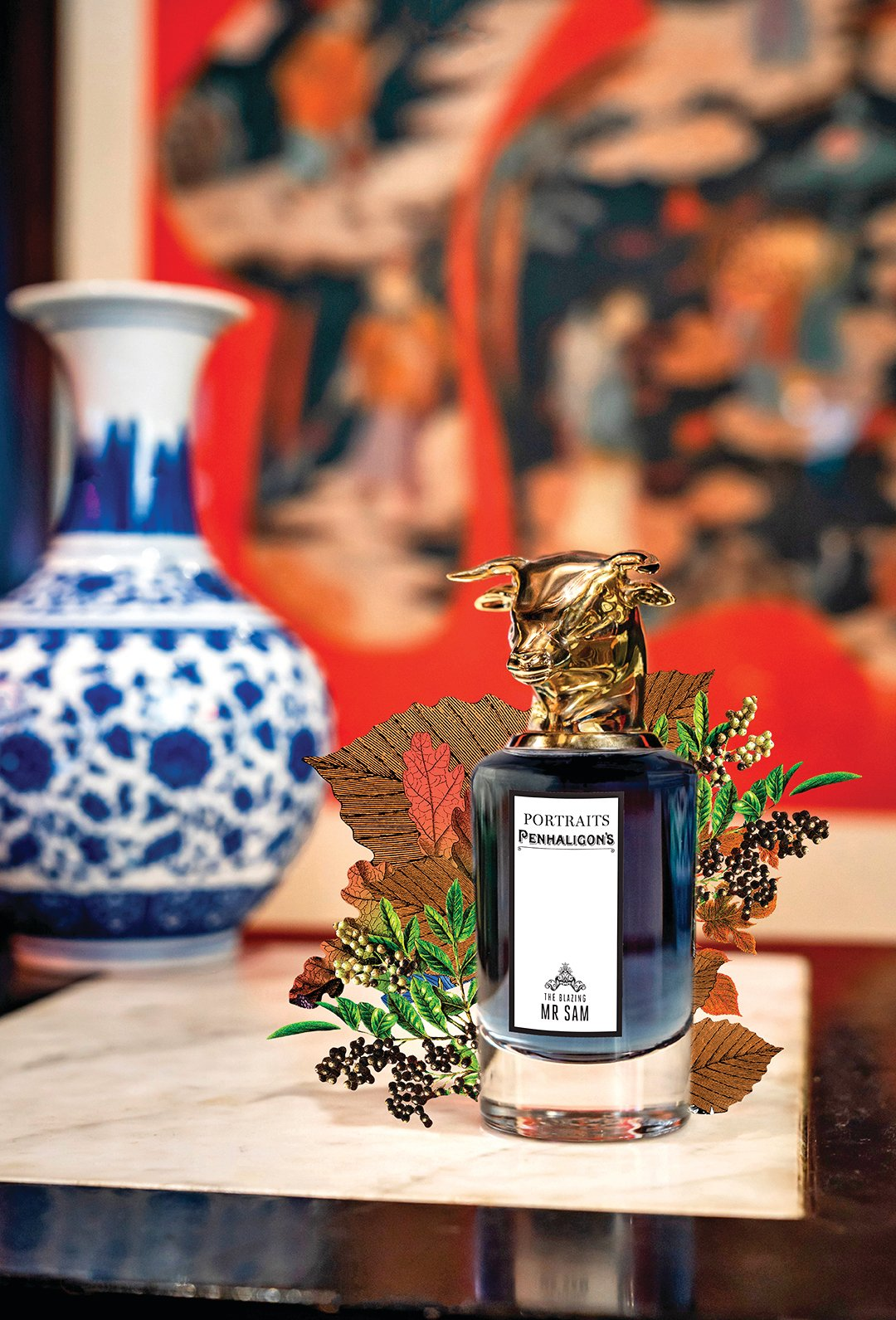 Penhaligon's獸首系列公牛香氛,穩定的松木加入了廣藿香和孜然豆蔻。