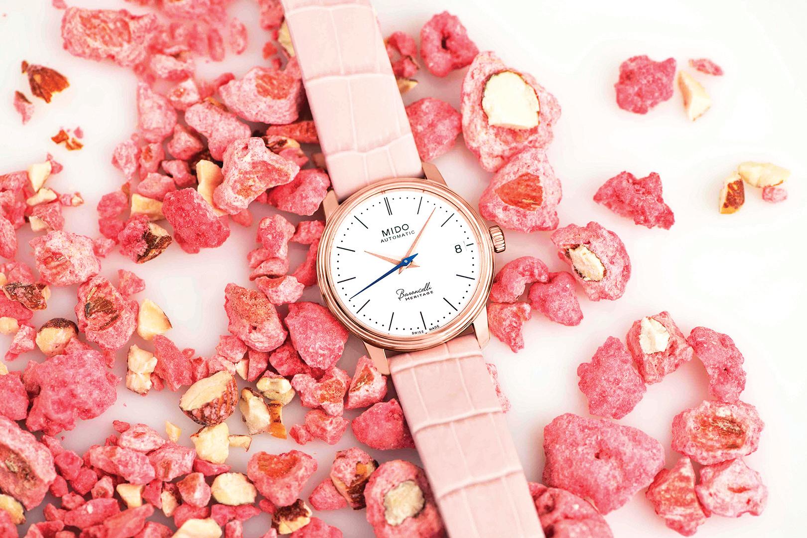 MIDO美度錶推出Baroncelli Heritage Lady永恆系列復刻超薄腕錶。