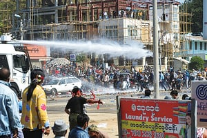 抗議軍方政變 緬甸廿七名民眾被捕