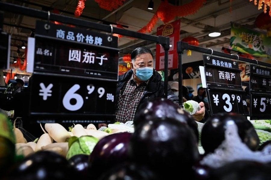 中國1月份再現通縮