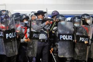 緬甸軍方開槍鎮壓示威民眾