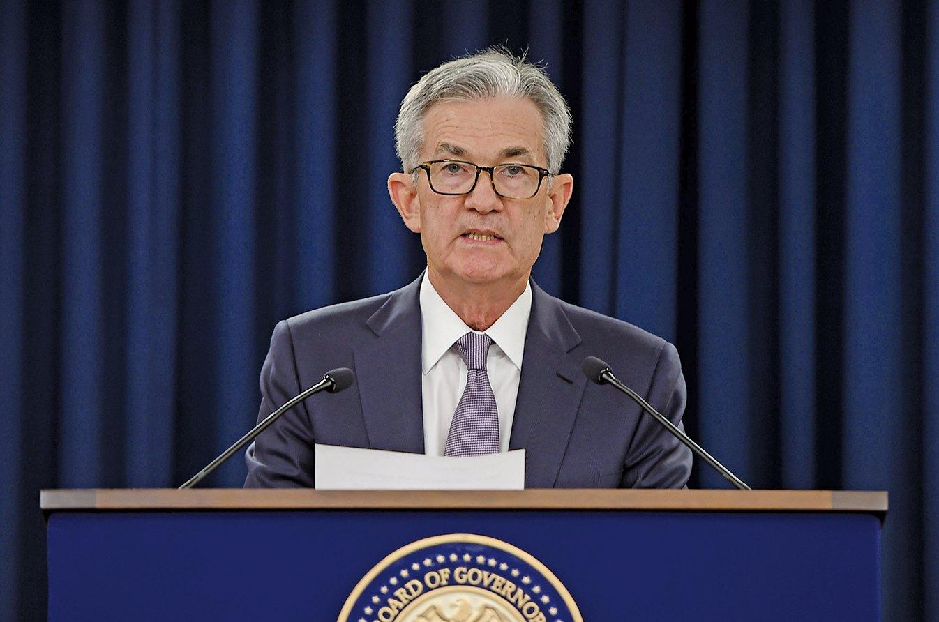 圖為美聯儲主席鮑威爾(Jerome Powell)在2019年9月一場記者會上發表講話。(Getty Image)