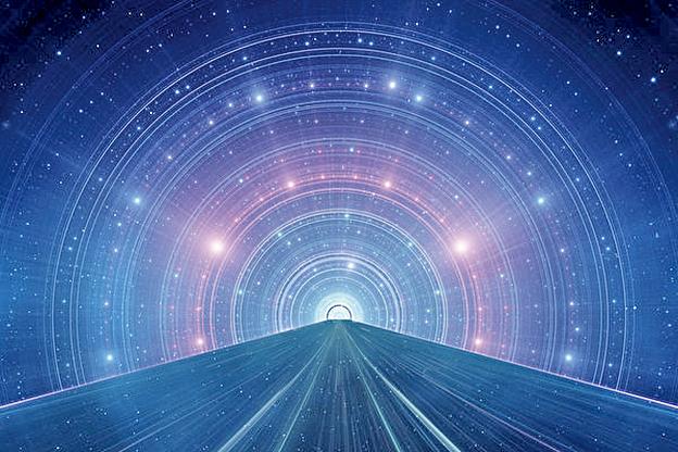 一名自稱辛西婭的女子表示,她在「死亡」後看到整個宇宙的歷史。時空旅行示意圖。(Fotolia)