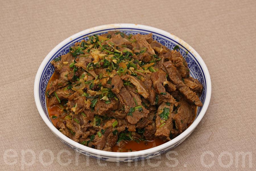 芫荽麻辣牛肉。(陳仲明/大紀元)