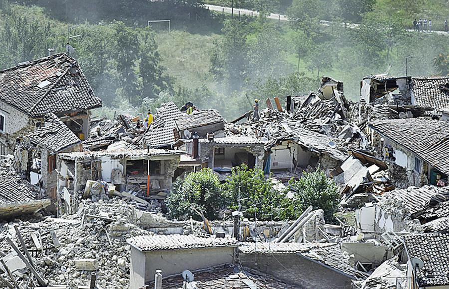 意大利強震驚魂一刻 居民:如但丁的煉獄