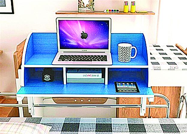 宿舍上鋪書桌走紅 空間大解放