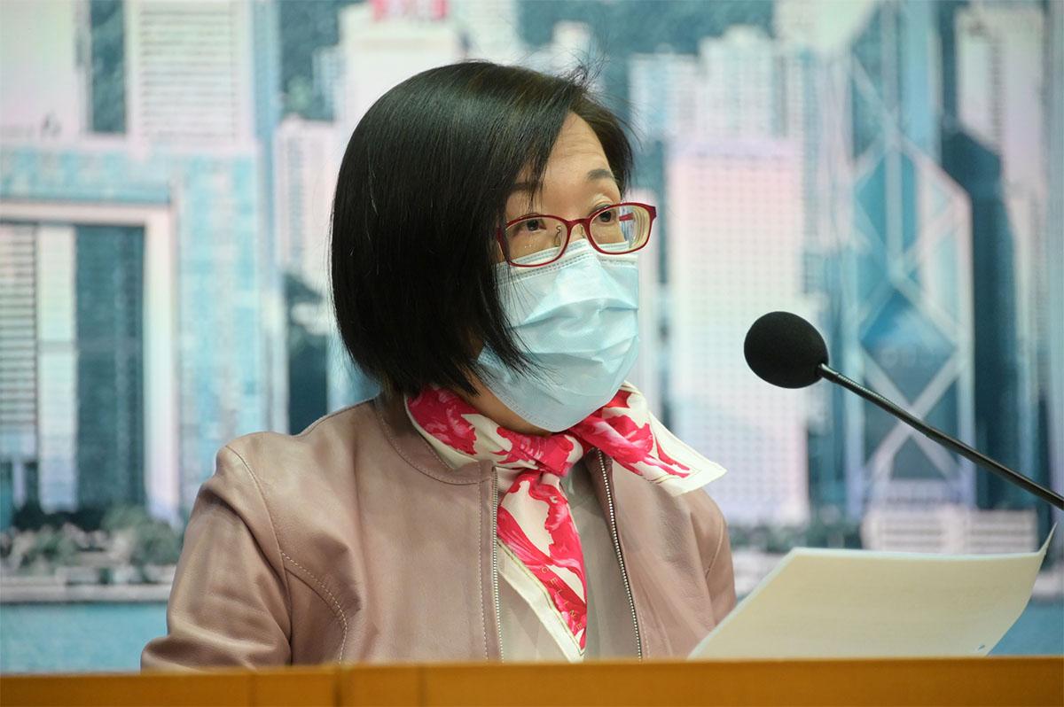 衛生署署長陳漢儀表示,雖然確診數字相對較低,但有機會與正值新年期間、市民未必會求診有關。(郭威利/大紀元)