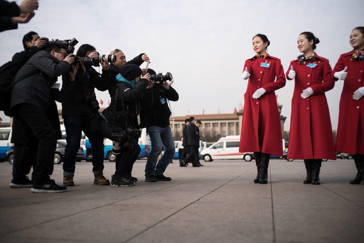 中共「大外宣」統戰手法推陳出新,除滲透、收買媒體外,近年又推出整合圖像、影音、動畫的「融媒體」傳播紅色聲音。(FRED DUFOUR/AFP via Getty Images)