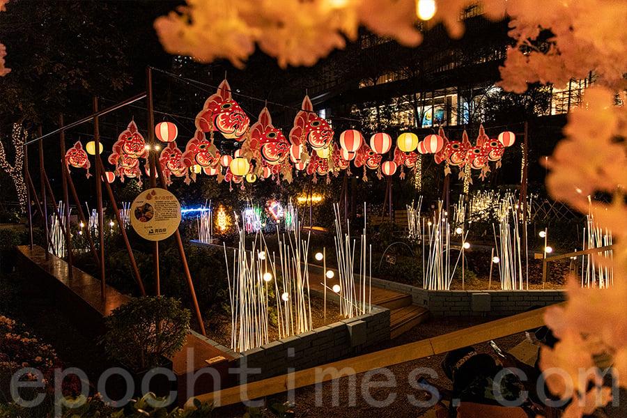 元朗Yoho Mall推出「小青森—都市農莊」的打卡位充滿日式情懷。(陳仲明/大紀元)