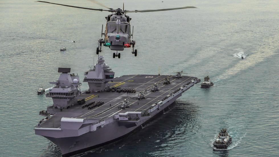 英國伊麗莎白女王號航母打擊群將常態性駐防西太平洋。(英國皇家海軍)