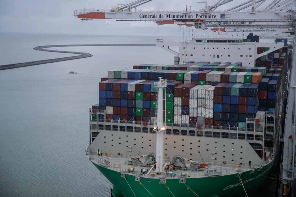 歐羅區2020年下半年出口反彈強勁,帶動貿易順差上升。(SAMEER AL-DOUMY/AFP via Getty Images)
