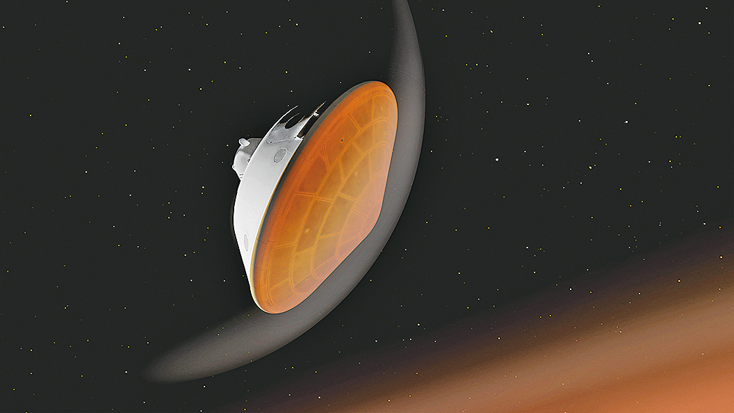 美國太空總署(NASA)「毅力號」火星漫遊車將於2月18日在火星一個隕石坑底部著陸。 (AFP)