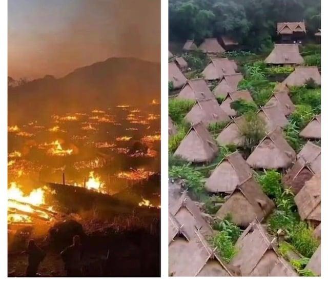 「中國最後一個原始部落」雲南翁丁寨發生火災