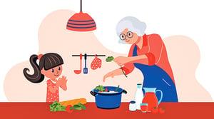 童詩 : 我家的老奶奶