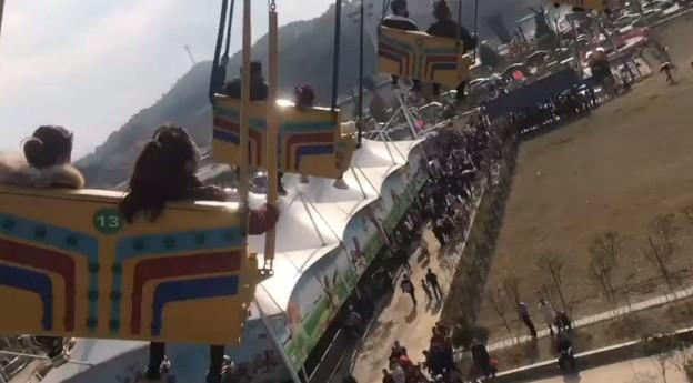 湖南遊樂場高空旋轉飛椅繩索斷裂致16傷