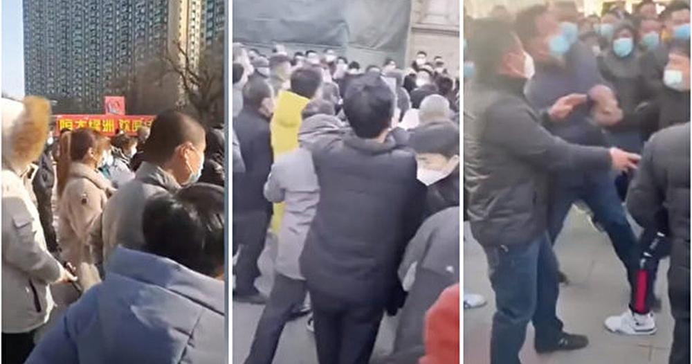 石家莊疫情再爆持續封區 居民崩潰群起抗議