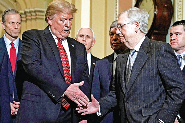 特朗普猛批麥康奈爾:不能讓三流領袖決定美國未來