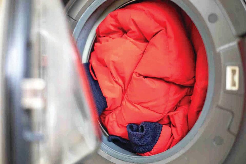 有些羽絨衣可用洗衣機清洗。