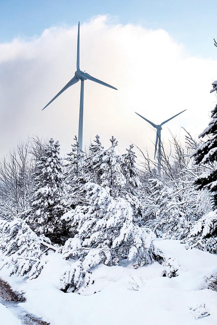 美國德州15日發生大型斷電事故,超過400萬戶家庭瞬間失去電力。斷電的部份原因是風電機組扇葉結冰,無法運行。一場橫掃德州的冬季暴風雪暴露出綠色能源的弱點。圖為風力發電機。(公有領域)