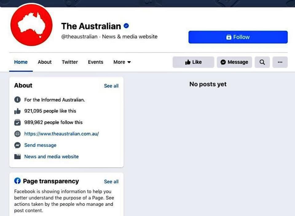 澳大利亞人報FB頁面。(網絡截圖)
