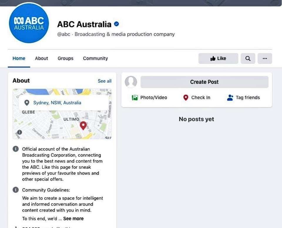 澳洲廣播公司FB頁面。(網絡截圖)