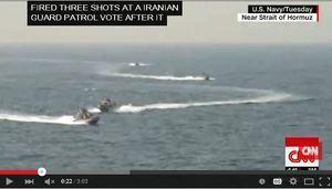 伊朗船艦數次逼近美軍艦 美艦3度開火示警