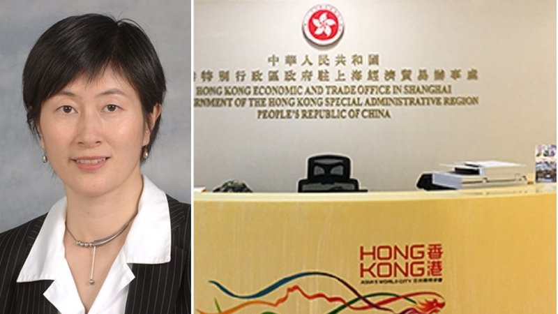蔡亮的女秘書18日中午在其辦公室上吊自殺。(網絡截圖 / 合成圖片)