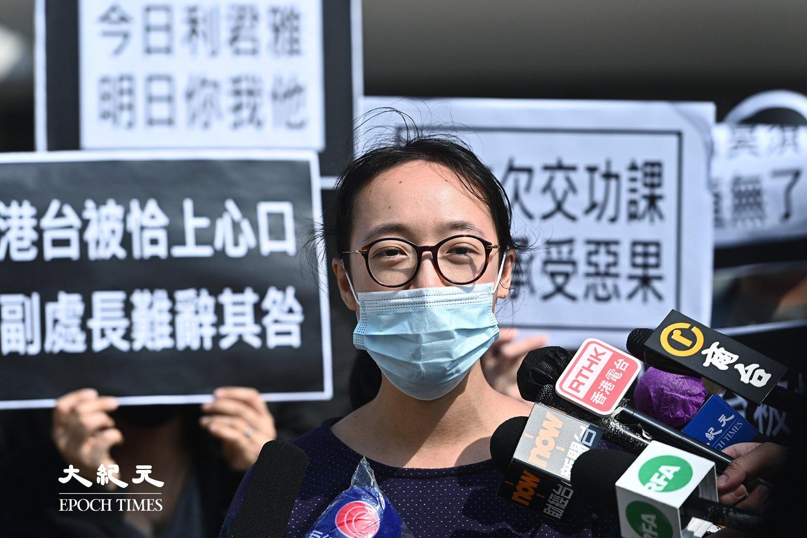 港台節目製作人員工會主席趙善恩,攝於2021年1月28日。(宋碧龍/大紀元)
